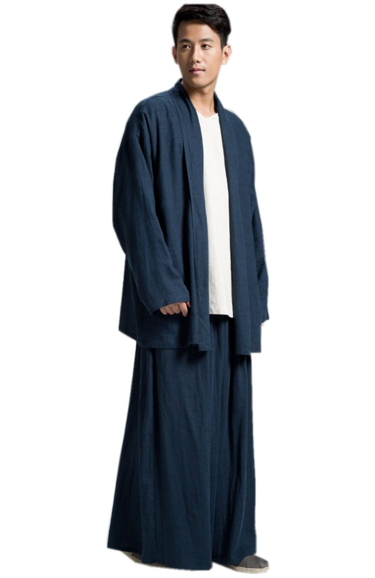 ZanYing Buddhist Monk Meditated Clothing Sets Plus Size Men Yoga Taichi Suits ZYS54