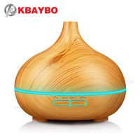 KBAYBO 300ml Air Humidifier Essential Oil Diffuser wood grain Aromatherapy diffusers Aroma purifier MistMaker led light for Home