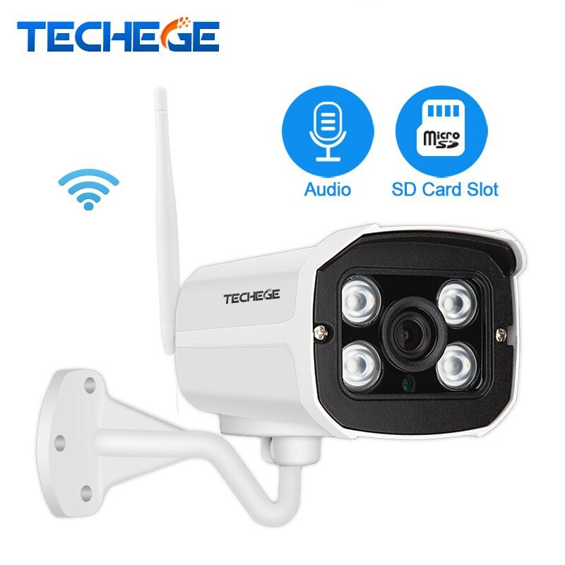 Techege 2.0MP Audio Record Wired Wifi Camera Waterproof Night vision 960P 720P wireless camera Motion Detection SD Card Slot
