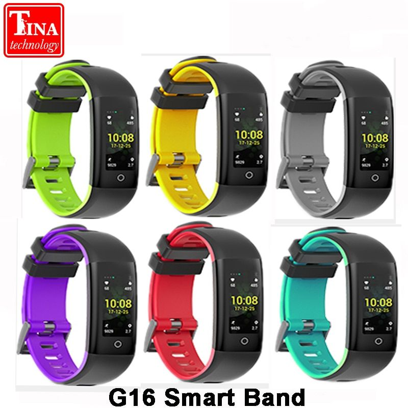 Original G16 Color screen Smart band Support heart rate blood pressure calorie step monitoring IP67 Waterproof Fitness bracelet