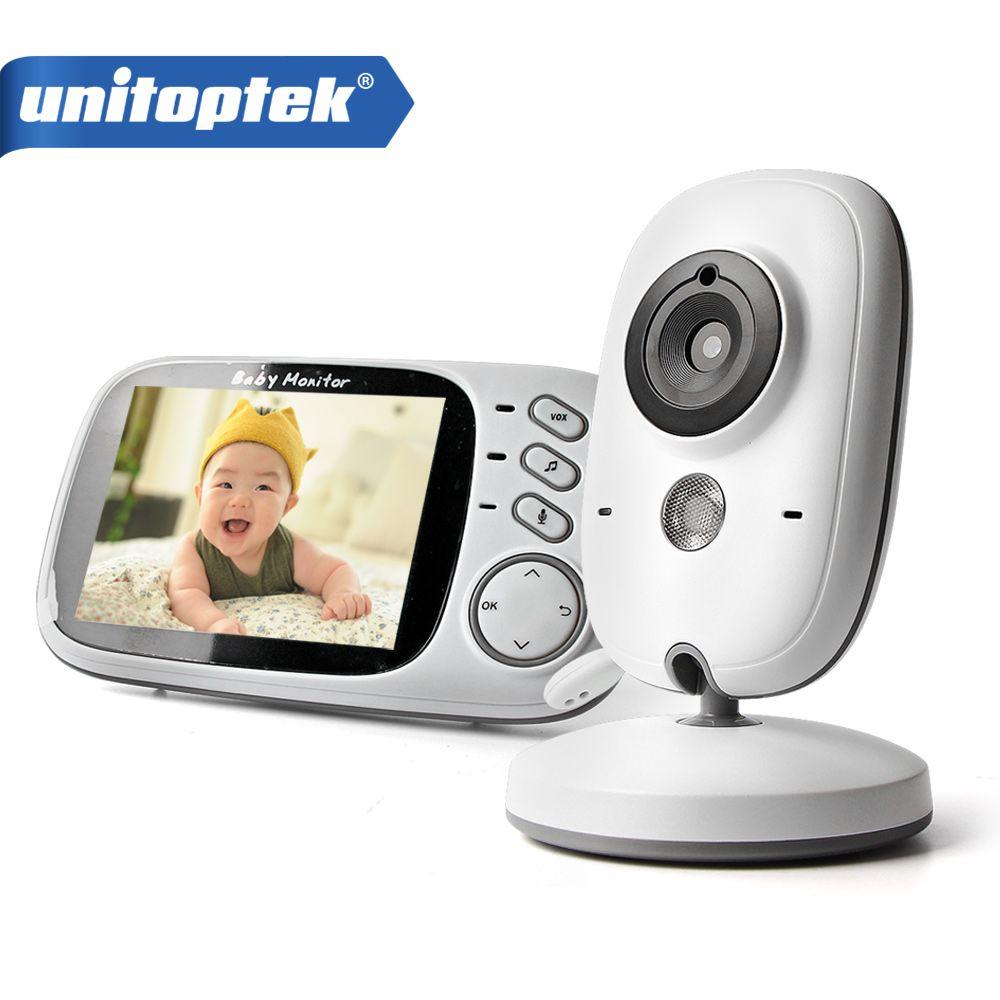 3.2 Pouce 2.4 GHz Sans Fil Vidéo Couleur Bébé Moniteur Haute Résolution Bébé Nounou Caméra de Vision Nocturne de Sécurité de Surveillance de La Température