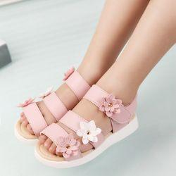 COZULMA летние стиль детские сандалии для девочек принцесса красивый цветок обувь Дети плоские сандалии для маленьких девочек римская обувь