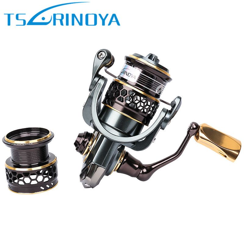 Tsurinoya Jaguar 1000 2000 3000 Spinning Fishing Reel + Spare Spool Lure <font><b>Wheel</b></font> Moulinet Peche Carretilhas De Pescaria Carp Coil
