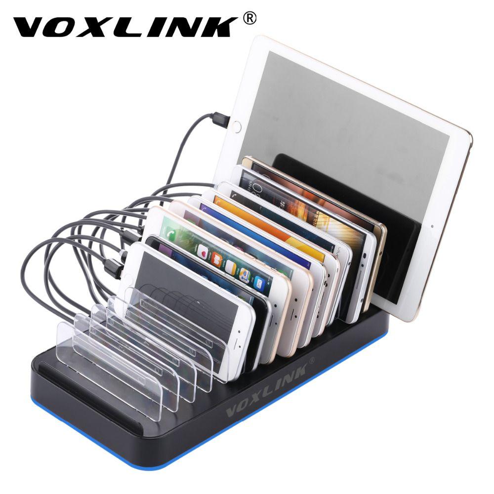 VOXLINK Smart 15-Port USB Station De Recharge Dock 80 W 16A Universel USB Rapide Chargeur Câble Organisateur Pour Les Téléphones Intelligents et comprimés