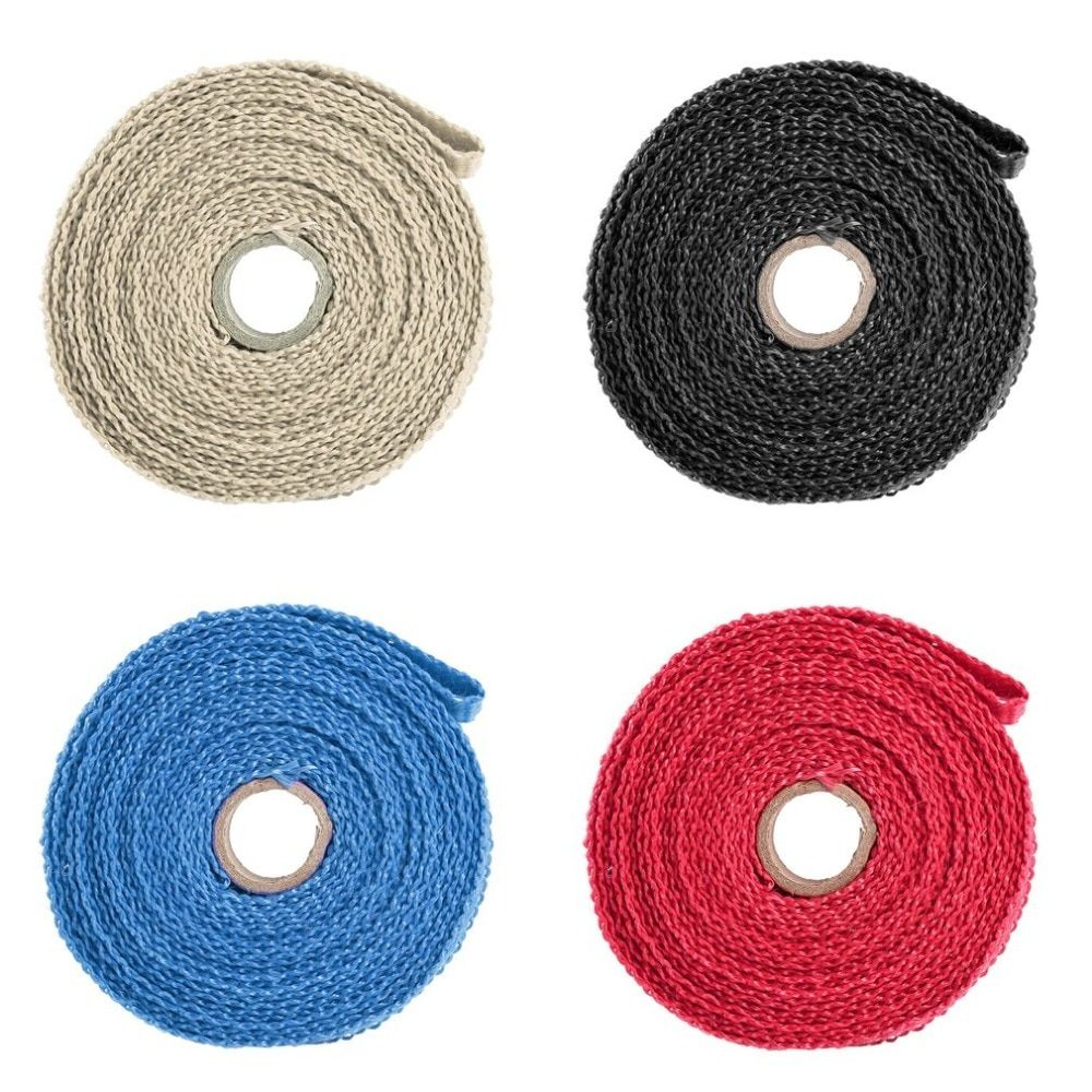 Useful Incombustible Turbo Manifold Insulating Exhaust Header Wrap Tape Thermal Stainless Zip Ties For Cars Motorcycles Hot