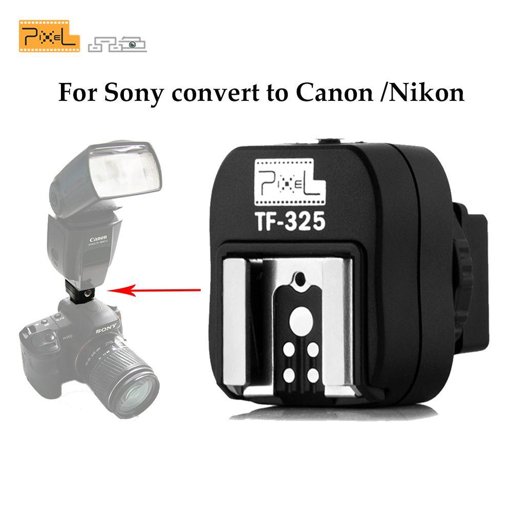 Pixel TF-325 Hot Shoe Adaptateur Convertisseur pour PC Sync Socket Port pour Sony Alpha Minolta Konica comme FS-1100 FS1100 & flashes
