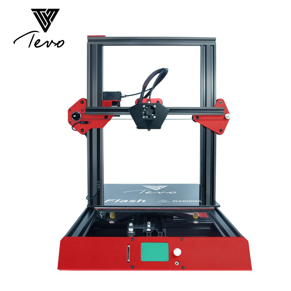 2018 TEVO Flash 3D Printer Full metal Prebuilt 98% 3D Printer DIY kits 3D Printing Machine & Titan Extruder & Silicone Heat Bed