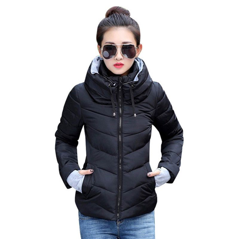 Новое поступление Дамская мода пальто Зимняя куртка, верхняя одежда короткая стеганая куртка женская утепленная парка пальто Для женщин ...