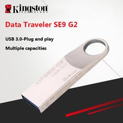 Kingston USB 64 GB DataTraveler USB Flash Drive 3.0 32 GB 128 GB 16 GB 8 GB Pendrives U Bâton DTSE9G2 Pen Drive Métal Flash mémoire
