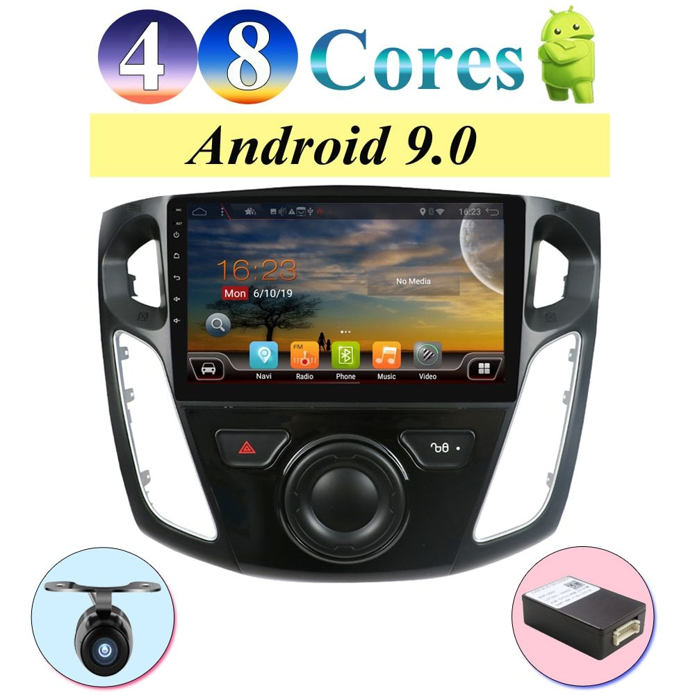 2din radio zentrale multimidia android 9.0 für Ford Focus 2012-2017 RAM 4G ROM 64G HDMI Bluetooth 4,0, AMP 7851