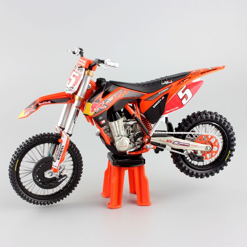 1/12 scale kids redbull No.5 Ryan Dungey SUPERMOTO CHAMP KTM SXF450 Motocross Motorcycle Diecast metal model race dirt bike toys