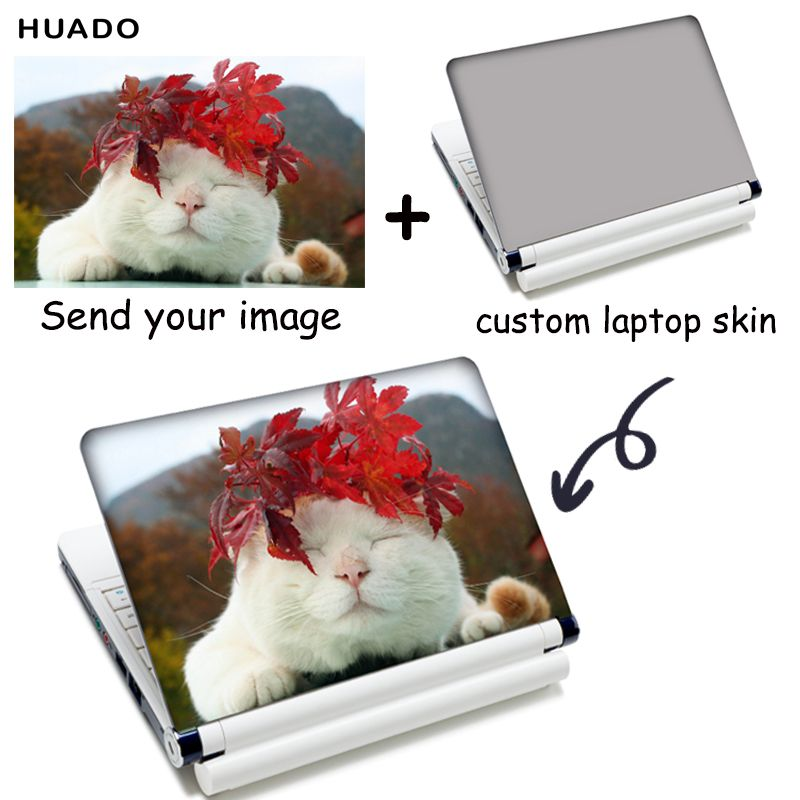 Personnalisé ordinateur portable peau autocollant 17.3 13.3 pour hp/asus Ordinateur Portable peau couverture 15.6 pour autocollant mac pour mac livre /dell
