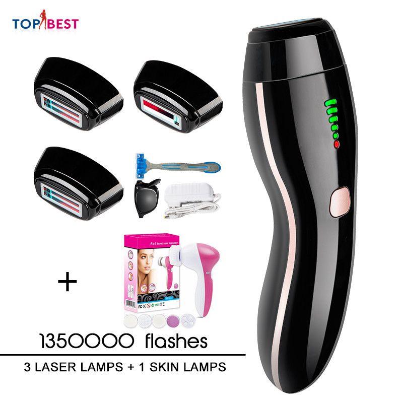 4in1 IPL Epilierer Dauerhafte Laser Haar Entfernung Led-anzeige 1350000 Impulse depilador eine laser Bikini Trimmer Photoepilator geschenk