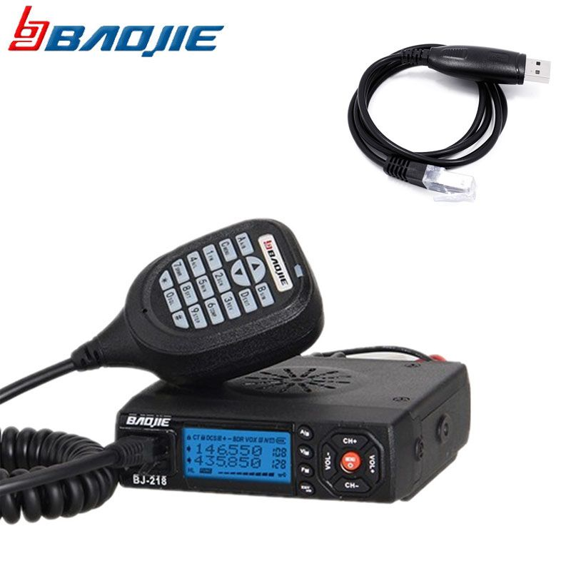 Original BJ-218 Car Mini Mobile Radio Transceiver 25W Dual Band VHF/UHF BJ 218 Vericle Car Radio Sister KT8900 KT-8900R UV-25HX