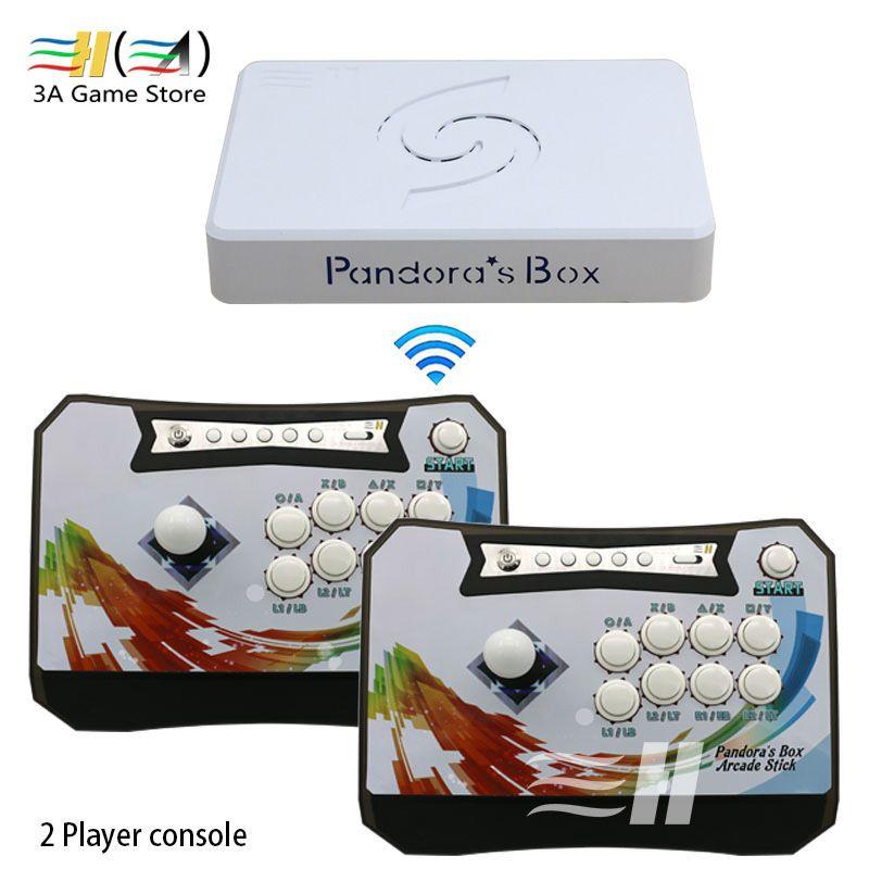 Pandora box 6 1300 in 1 drahtlose arcade spiel konsole set 2 Spieler controller konsole können hinzufügen 3000 spiele 3d tekken Mortal Kombat