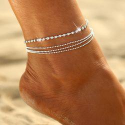 Цвета: золотистый, серебристый Цвет moda praia ножной браслет на ногу 2018 модная летняя пляжная бижутерия для ног Tobilleras де Плата Para Mujer