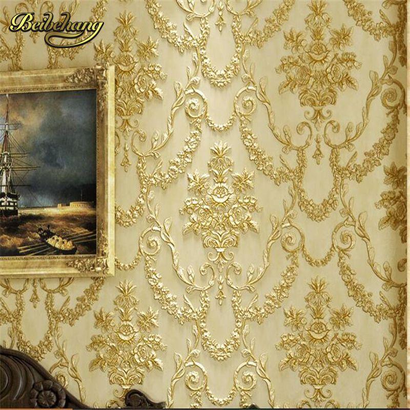 Beibehang 3D Трехмерная Скульптура обои ретро Европейский Стиль Спальня Гостиная ТВ фон длинные волокна AB