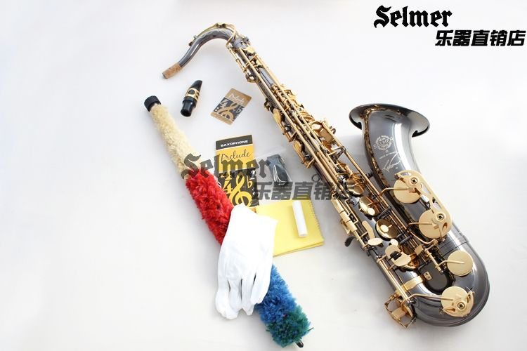 Tenor Saxophone French Selmer 54 B Top Musical Instrument Sax Black Nickel plated Gold kay saxophone accessories Professional