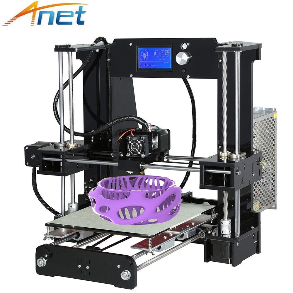 Anet A8 A6 3D Printer Easy Assemble Reprap i3 3D Printer Kit DIY Large Size High Quality Aluminium Extrusion with Filaments Gift