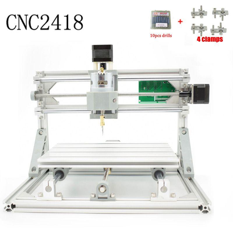 CNC 2418 GRBL control Diy CNC machine,working area 24x18x4.5cm,3 Axis Pcb Pvc Milling machine,Wood Router,Carving Engraver,v2.5