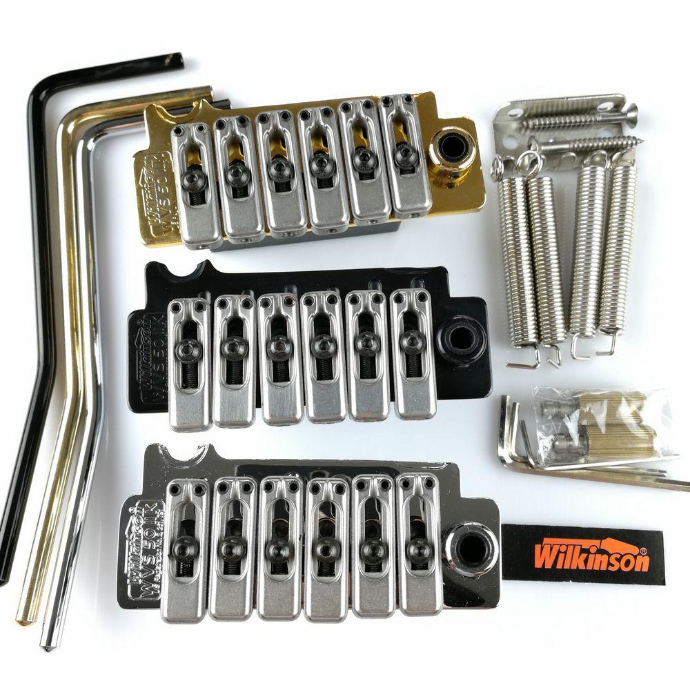 Neue Wilkinson WVS50IIK e-gitarre tremolo Brücke-system silber Schwarz und Gold
