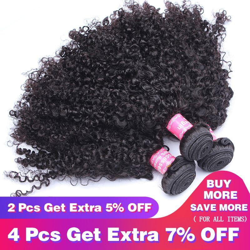 Brésilienne Crépus Bouclés Cheveux Humains Cheveux 1 ou 3 Faisceaux 3B 3C Armure de Cheveux Non Remy Naturel Cheveux Humains extensions CARA