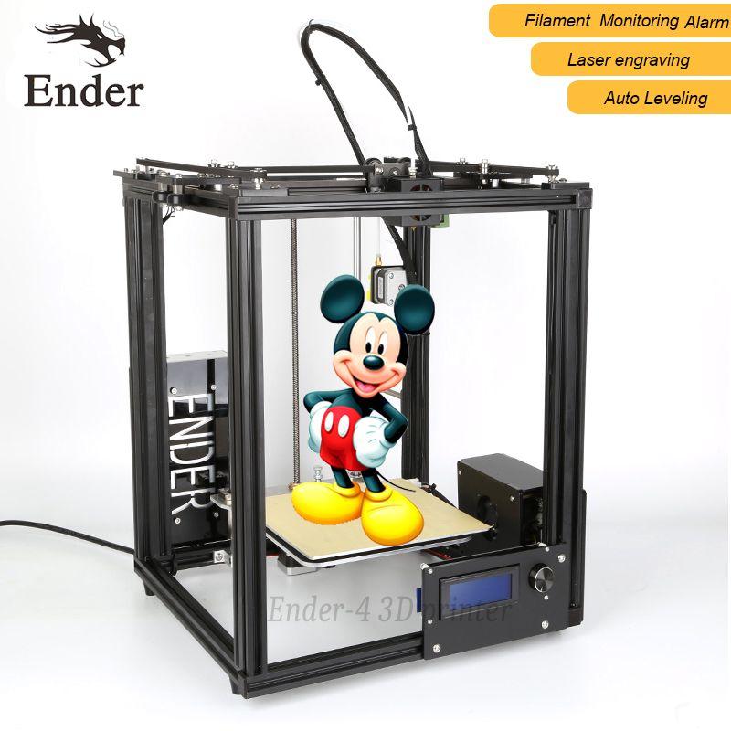 2018 heißer Verkauf Ender-4 3d drucker laser, Auto Leveling, Filament Überwachung Alarm schützen, Prusa I3 3d-drucker n 5 Mt filament + Brutstätte