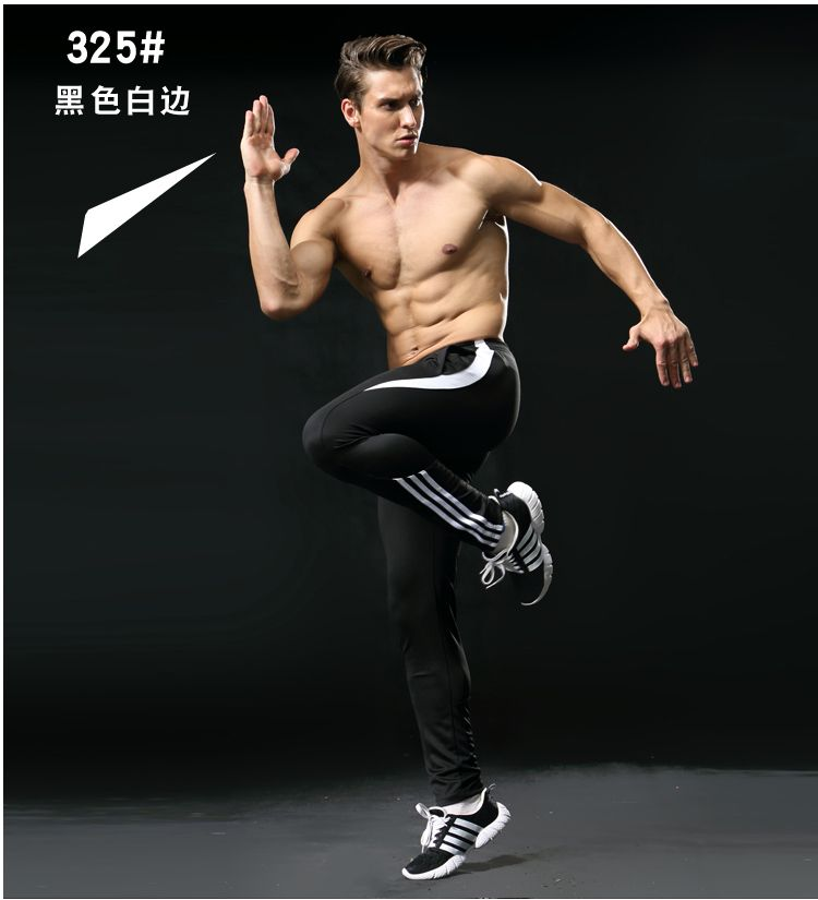 Sport Running Pants Men With Pockets Athletic Football Soccer pant Training Pants Elasticity Legging jogging Gym Trousers 2019