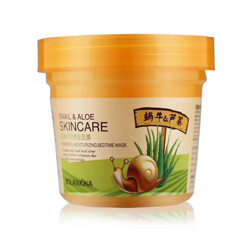 Hydratant Masque De Sommeil Escargot Crème Aloe Extrait À Laver-livraison Masque Hydratant Aloe Crème Nourrir Réparation Anti-Acné Se Fanent taches