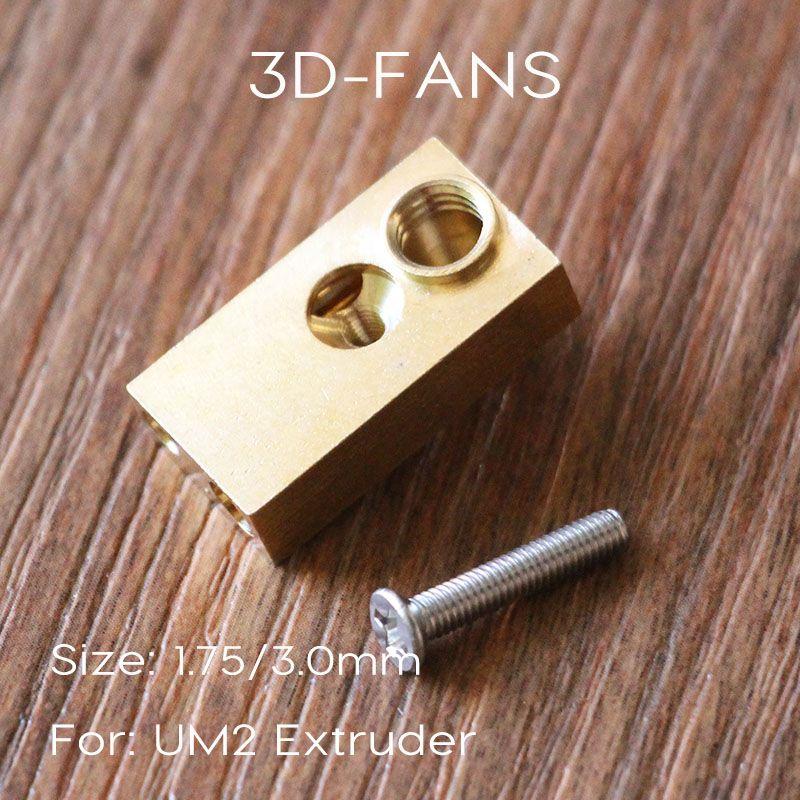 Olsson Block - 1Pcs Ultimaker 2 UM2 Extended E3D Heater Hotend for 3D printer 1.75mm/3.0mm