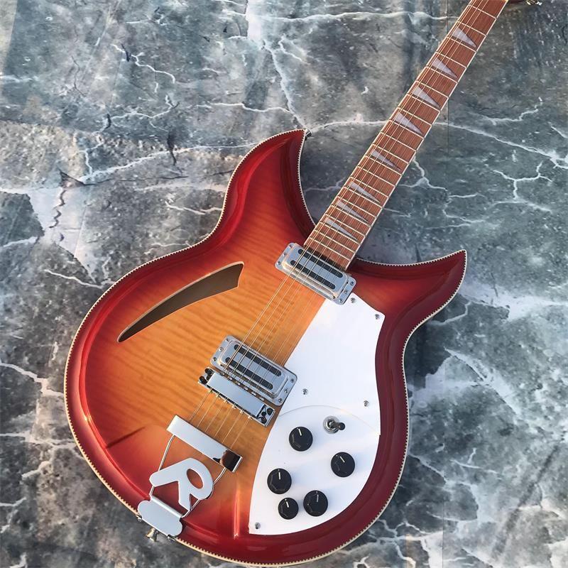 12-string gitarre, Rickenback 360 Elektrische Gitarre, doppelseitige Geflammt MapleTop, palisander griffbrett hat den glanz von lack auf ich