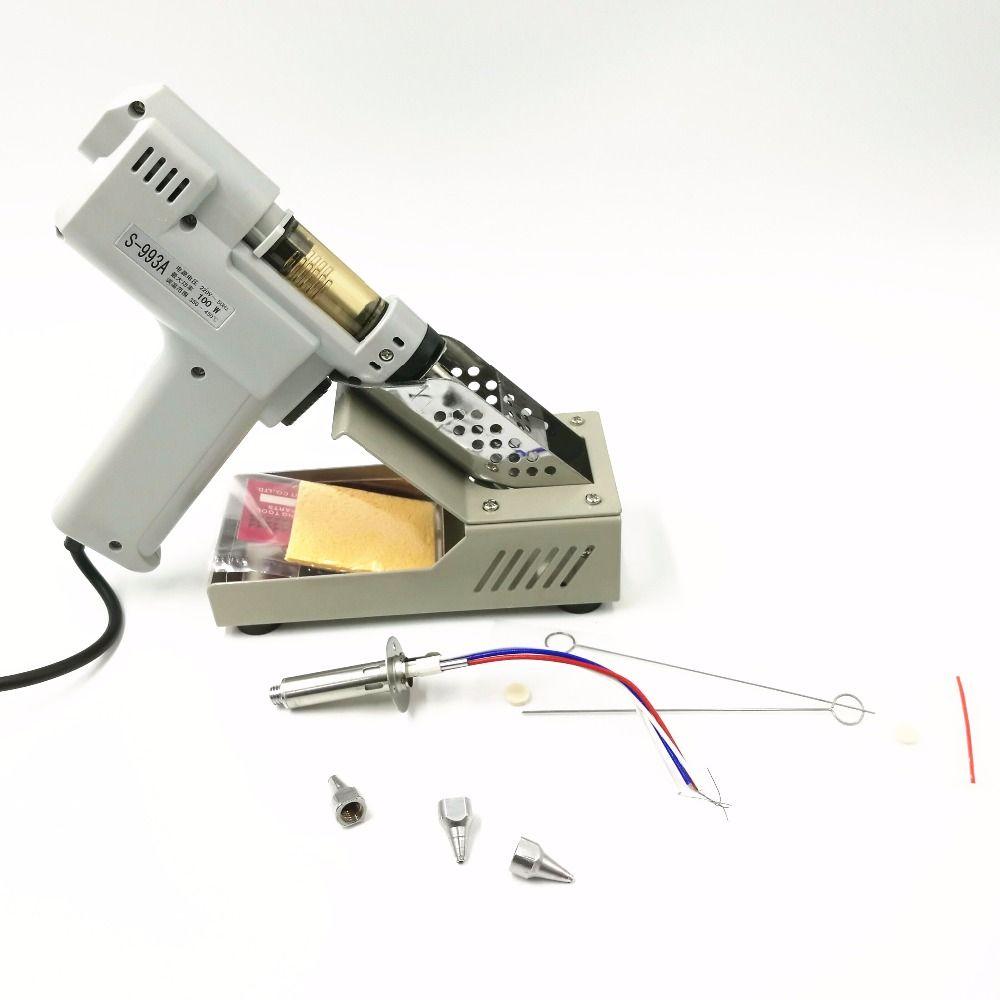 110V/220V Desoldering Gun Electric absorb gun S-993A Electric Vacuum Desoldering Pump Solder Sucker Gun 100W