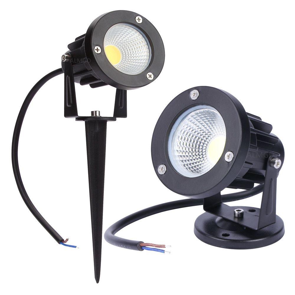 12 V lampe de jardin en plein air LED lumière de pelouse 3 W 5 W 7 W 9 W COB LED lampe de pointe étanche IP65 étang chemin paysage Spot lumières ampoules