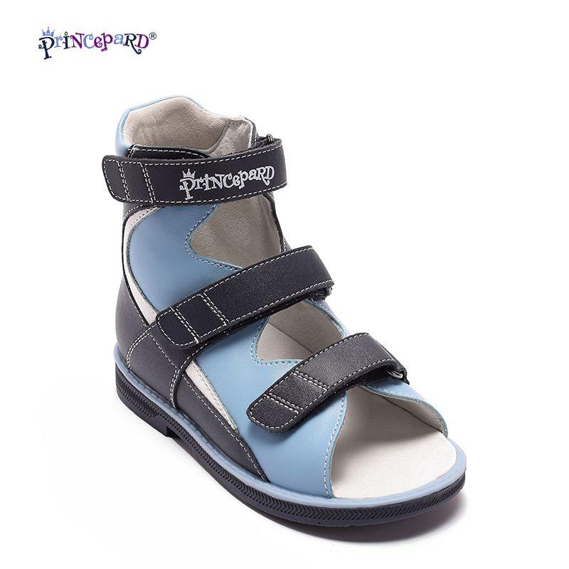 Princepard 2018 sommer kinder schuhe jungen sandalen orthopädische schuhe aus echtem leder baby jungen sandalen coole schuhe