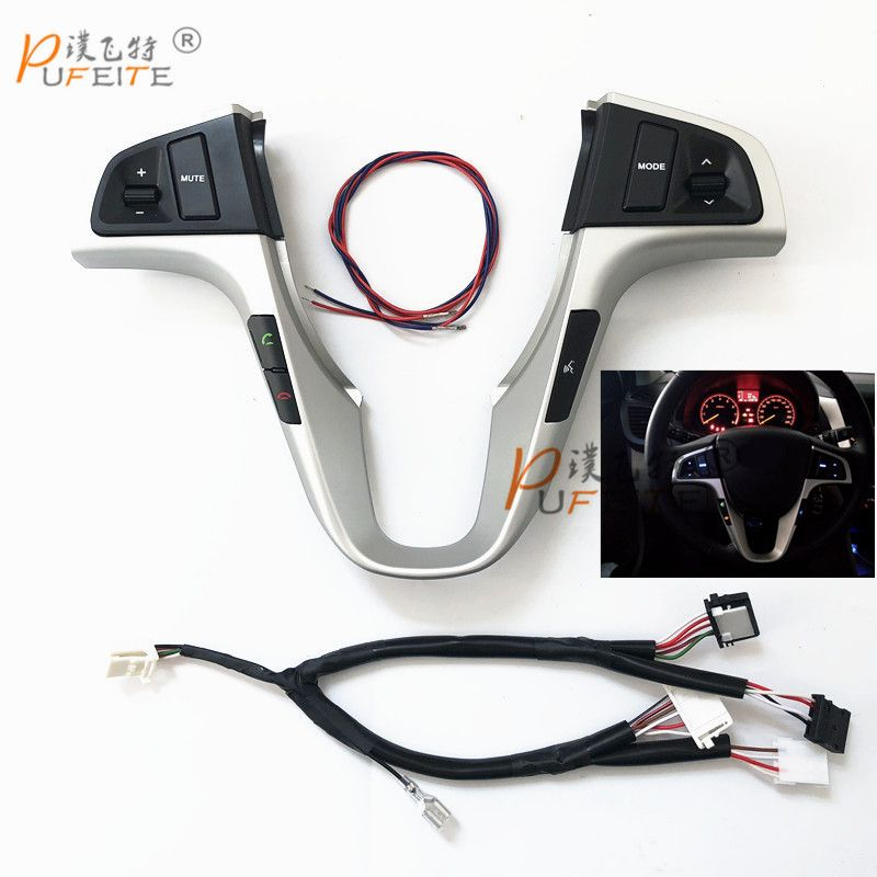 car multifunction steering wheel button For Hyundai VERNA SOLARIS Steering wheel audio volume music control button switch