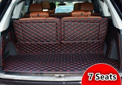 High quality! Full set trunk mats for Audi Q7 7seats 2017 waterproof boot carpets cargo liner mat for Q7 2016-2015,Free shipping