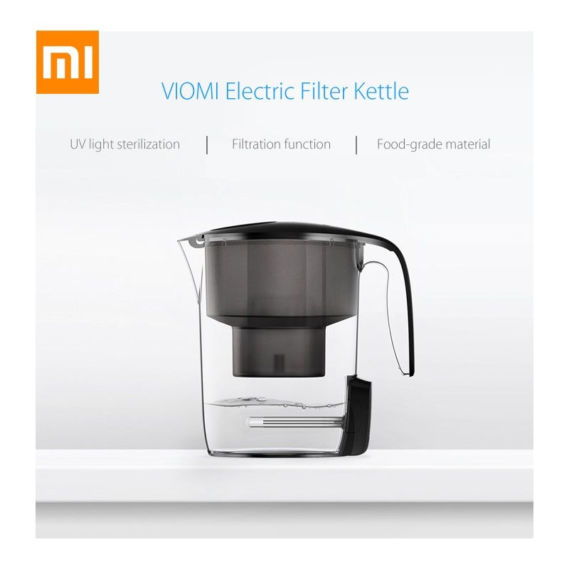 Original Xiaomi Viomi Mi UV Water Filter Kettle L1 Ultra Violet UV Sterilization 7 Heavy Multi Effect Filter Lifetime Display