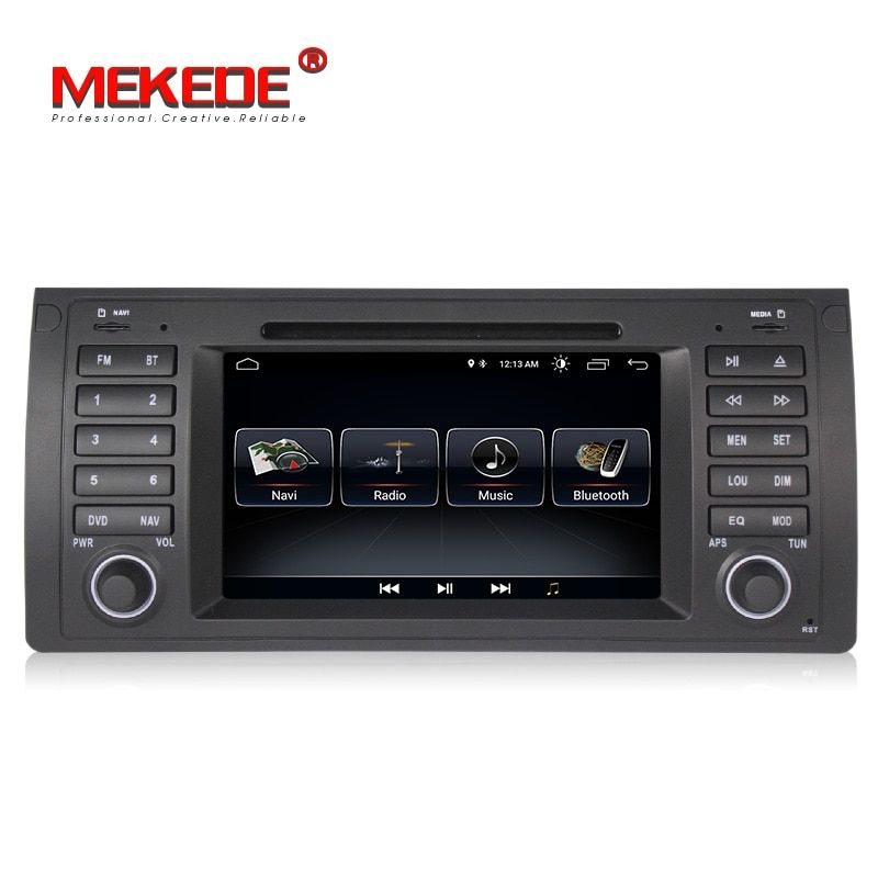 free shipping 1din Android 8.0 Quad core Car Multimedia Player GPS For E39 X5 E53 M5 with canbus wifi BT radio stereo Autoradio