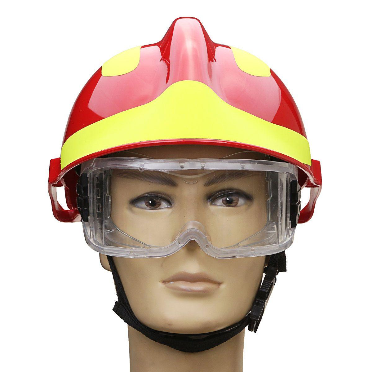 NEUE Safurance Rettungs Helm Feuer Kämpfer Schutzbrille Protector Arbeitssicherheit Brandschutz 53 CM-63 CM