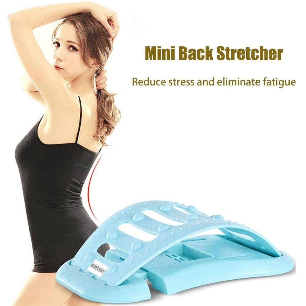 Mini Back Stretcher Back Stretching Advice Massage Relaxation Stretcher Spine Disease Relief Three Gears Adjustment keep slim