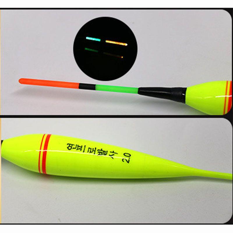 Heißer Verkauf 1 stücke Fest Fische Bobber Mit Led-Licht Fshing Fischen Schwimmen Batterie Pesca