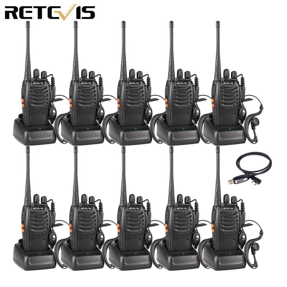 10pcs Walkie Talkie Retevis H777 UHF 400-470MHz 16CH Ham Radio Hf Transceiver 2 Way Radio Communicator Comunicador Handy