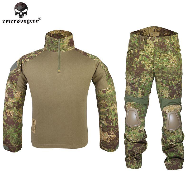 Emersongear Gen2 Combat Shirt Pants Airsoft Tactical Gear Hunting Uniform Emerson Tactical BDU 6978 Greenzone