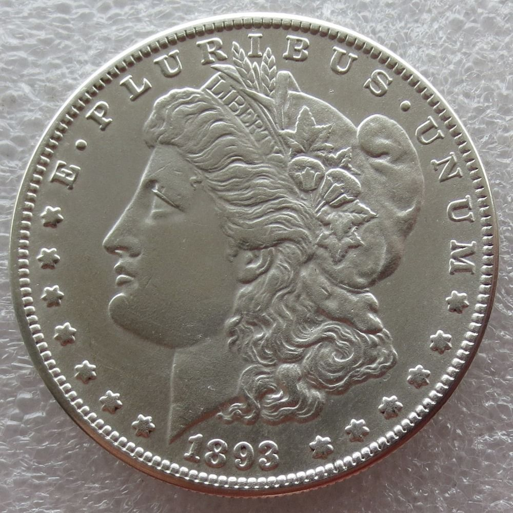 90% Silver Date 1893 - S Morgan Dollar Copy Coin Weight 26.70-26.73 Grams Make New Or Old Free Shipping