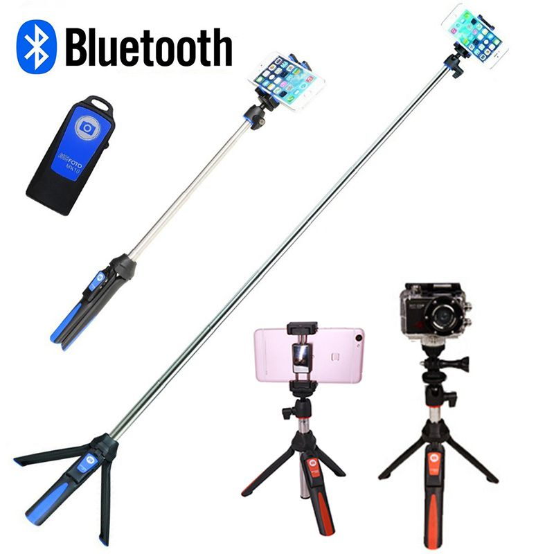 Phone Tripod Monopod Wireless Bluetooth Selfie Stick Tripod for Gopro Sports Camera for iPhone X 8 7 Plus Smartphone Gopro 6 5