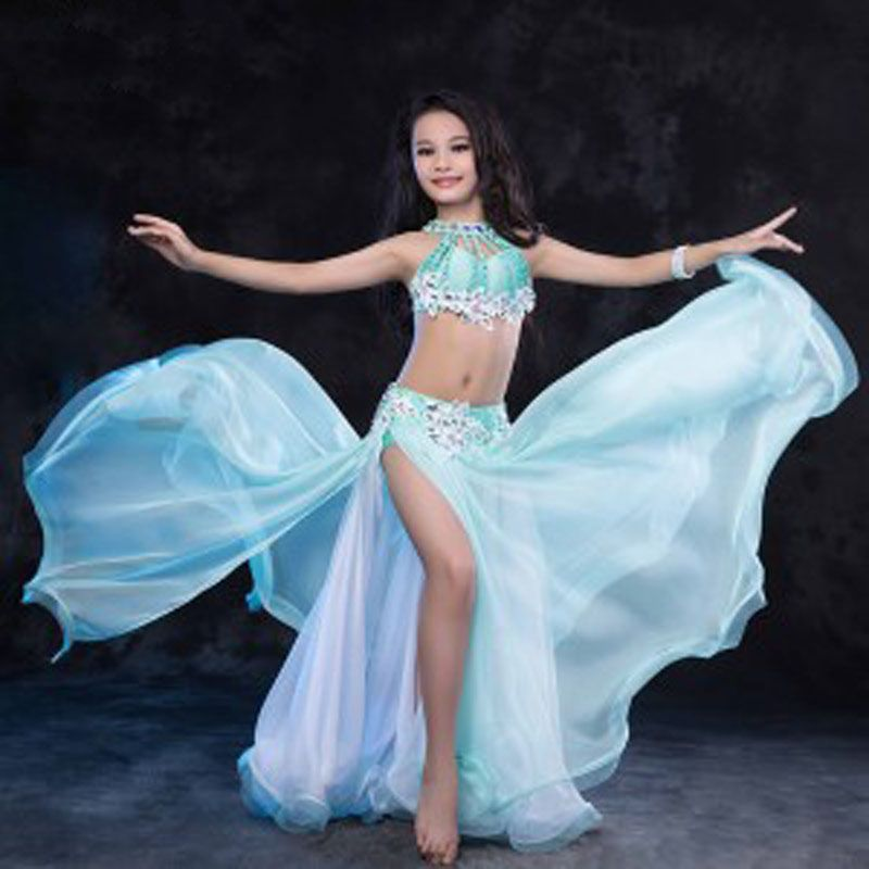 New! Luxury Oriental BellyDance Costumes for kids/child/girls Sexy hand-made Belly Dancing Suits clothes for stage performance