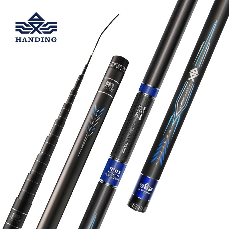 Handing high carbon fiber rod Stream Fishing Rod 4.5m-7.2m Ultra light Telescopic Rod for Carp Fishing rod fishing pole