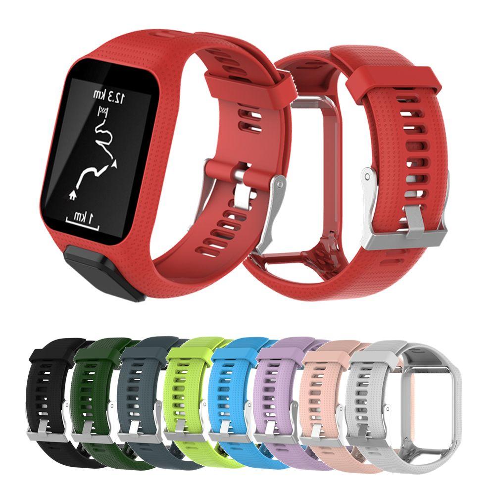Bracelet de montre en Silicone pour Tomtom Runner 3 Bracelet pour Tomtom montre Bracelet remplacement bracelets pour Tom Tom Runner 2/Spark Music