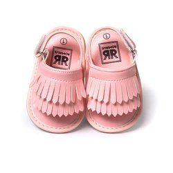 Bebé Sandalias verano ocio moda bebé Niñas Sandalias de niños pu borla Zapatos 7 colores