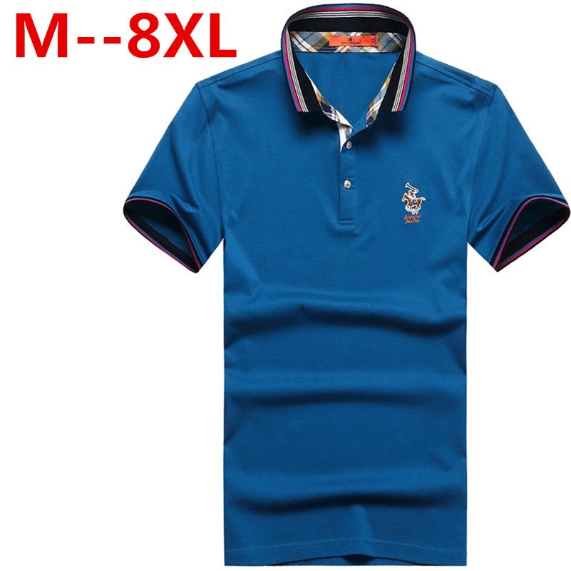 9xl 8xl 7xl 6xl 5xl männer polo hemd slim fit short hülse 100% baumwolle marke kleidung mode sommer brief logo herren polo Shirts